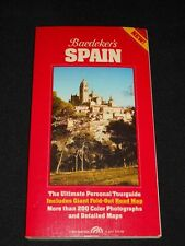 1990 Baedekers Spain The Ultimate Personal Tourguide Tour Book Fold Out  Maps