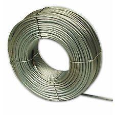 FUNE ACCIAIO a 133 fili ANTIGIREVOLE diametro 8 mm. in matassa da 100 mt.