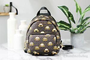 Michael Kors Erin Small Leather New York City Print Convertible Backpack Bag