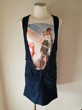 DIESEL Dark Blue Denim Skirt Overalls Size XS