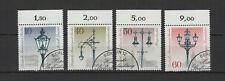 1979 Allemagne Berlin réverbères historiques 4 timbres oblitérés /T2248
