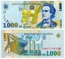 1998 Romania 1000 Lei Uncirculated Note