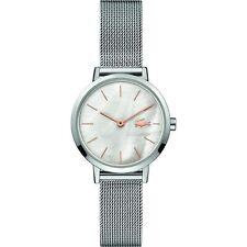 Lacoste 2001121 Damen Mond Silber Ton Mesh Armbanduhr