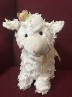 Homco/Home Interiors Collectible Sweet Dreams White Chenille Lamb