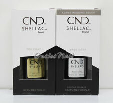 CND Shellac UV LED Gel LARGE 0.5oz 15ml DURAFORCE / XPRESS5 Top Base Coat .42oz