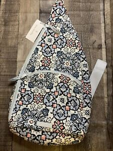 New Vera Bradley Essential Sling Backpack Libson Medallion