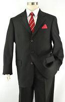 Exquisite NAUTICA Men's Charcoal Gray Pinstripe 3-Btn Wool Suit ~ Sz 40L USA