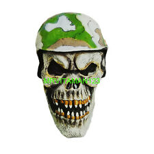 Soldier Skull Halloween Mask Full Head NEW! Adult One Size all