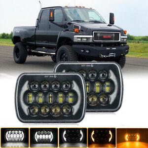 Pair LED Headlight Sealed High + Low Beam fit for GMC TopKick C4500 C5500 Trucks