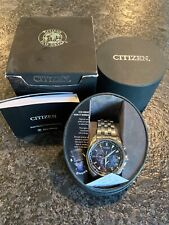 Citizen Eco-Drive AT9030-80L Auto-setting World Time Men's Watch Stainless
