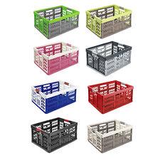 Klappbox mit Griffen 54x37x28 cm Einkaufskorb Soft-Griffe Viele Farben 45L