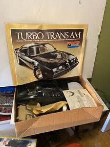 Vintage 1980 Monogram *TURBO TRANS AM* 1:8 Smokey & The Bandit  #2605 with BOX