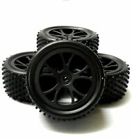 HS211057WFR 1/10 Scale RC Buggy Off Road Wheel Tread Tyre Black Plastic Studd 4