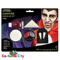 Halloween Vampire Dracula Face Paint Make Up Kit Party Fancy Dress Costume