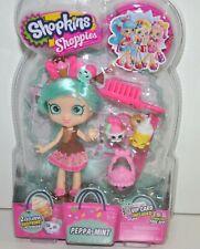 Shopkins Shoppies Peppa-Mint Collectible Doll w/2 Exclusive Shopkins VIP Card