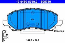 Bremsbelagsatz, Scheibenbremse für Bremsanlage Vorderachse ATE 13.0460-5760.2