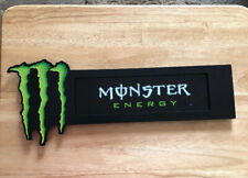 MONSTER ENERGY DRINK METAL SIGN WITH SUCTION CUPS SMOOTH SURFACE OR WINDOW 16X4