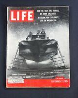 LIFE MAGAZINE  SEPTEMBER 27 1954 CANADA'S HYDROFOIL