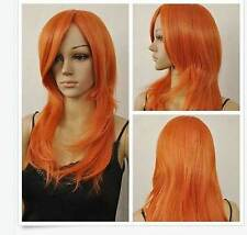 LMJF84 fashion long vogue straight orange cosplay hair wig wigs for women