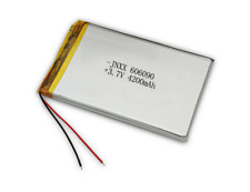 2 PCS 3.7V 4200mAH 606090 LiPo Li-ion Polymer Rechargeable Battery with Cable