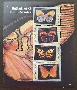 [SJ] Guyana Butterflies Of South America 2006 Insect (miniature sheet) MNH