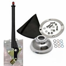 Chevy 11 Black Transmission Mount E-Brake with Black Boot, Silver Ring and Cap