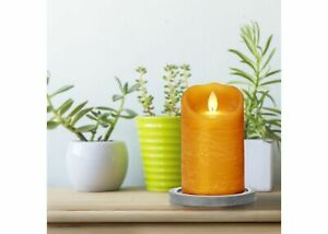 """3"""" x 5"""" Unscented LED Moving Flame Pillar Candle Honey - Threshold"""