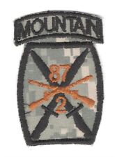Army Patch:   2nd Battalion, 87th Infantry, 10th Mtn Div - gray, theater made