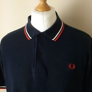 """Fred Perry SIZE LARGE 44"""" STYLE M1200  PIQUE POLO 100% GENUINE"""