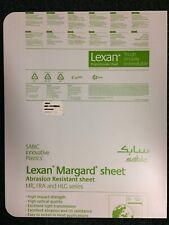 "Two sheets Lexan Margard Abrasion Resistant - Light Gray - 28"" x 22"" x 1/4"""