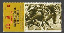 1972* WASHINGTON VERSUS CALIFORNIA FOOTBALL TICKET STUB HAS CORNER BEND