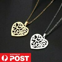 Women Necklace Pendant Strand Chain Charm Love Heart Gold/Silver Jewelry Gift