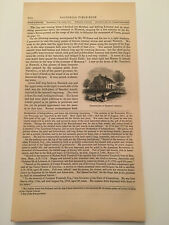 K41) Birthplace of Benedict Arnold Norwich American Revolution 1860 Engraving