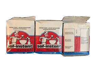 Saf Instant Yeast 3 Pack 1 Pound Pouches KOSHER Bread Maker Machine BEST BY 1/22