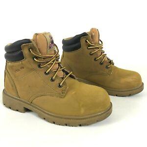 BRAHMA Steel Toe Work Boots Tan Womens 6M