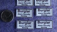 burglary security home house car alarm window vinyl decal sticker