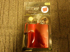 "Red Flask 'Carabiner Hip Flask'  ""Rock the Red"""