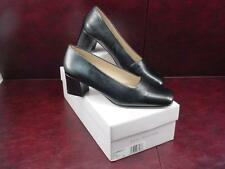 *NEW* Enzo Angiolini Classic MONARCH Black Leather Heels Shoes Pumps Size 7 M