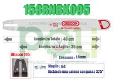 BARRA LAMA OREGON POWER MATCH 158RNBK095 38CM PASSO 325'' SPESS 1.5mm MAGLIE 64