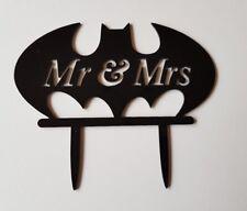 El Sr. & sra. Batman Wedding Cake Topper y signo de Acrílico Negro - 15x12CM-NEW/Logo