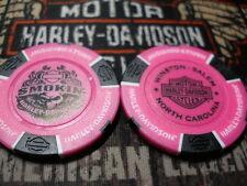 Harley Neon Pink & Black Poker Chip Smokin' Harley Davidson Winston-Salem, NC