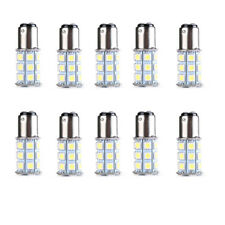 10X 1157 BAY15D 5050 27 SMD LED RV Camper Trailer White Bulbs Interior Light