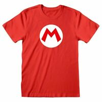 Men's Retro Super Mario Bros. M Logo Red T-Shirt - Nintendo Retro Tee