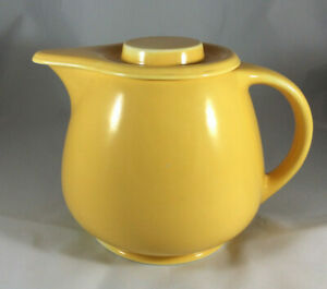 Vintage Fiesta Kitchen Kraft yellow large covered pitcher lid Homer Laughlin
