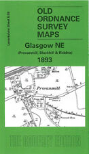 OLD ORDNANCE SURVEY MAP GLASGOW NE PROVANMILL, BLACKHILL & RIDDRIE 1893