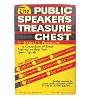 The Public Speaker's Treasure Chest by Herbert V. Prochnow Vintage 1942 HC