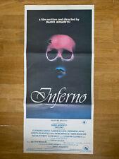 INFERNO rare Australian daybill MOVIE POSTER Dario Argento Italian horror giallo
