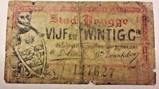25 Cent centimes 1915 Brugge Stad  --> 25 Centimes Belgique  Kasbon Belgïe