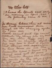 Julia M Walters / Handwritten Manuscript My Other Self 1924 Literature