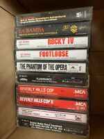 LOT OF 10 VINTAGE MIXED CASSETTES Movie Soundtrack Star Wars James Bond Bill Ted